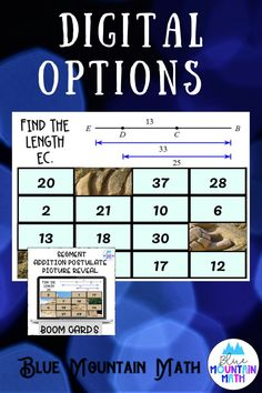 Are you looking for an interactive and self-correcting resource to review practicing the segment addition postulate with your students? There are 2 different pictures with 16 problems for each picture. Students start with the picture totally covered by the answer boxes. As they answer each question correctly, more and more of the covered picture is revealed.