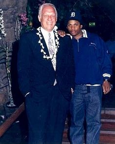 Jerry Heller with Eazy-E of NWA.