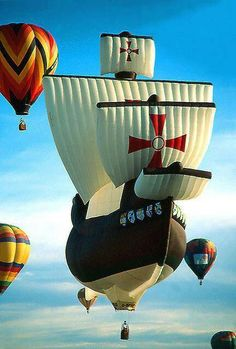Fb (ok its a hot air baloon but its in the shape of a sailing ship)