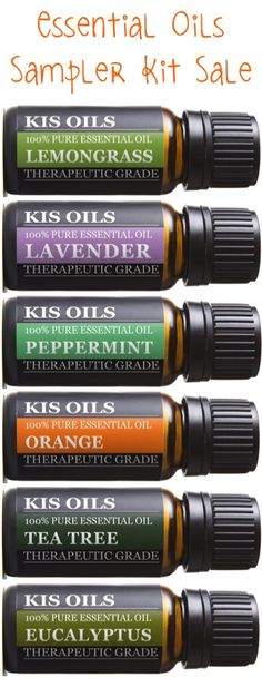 Essential Oils Sampler Kit Sale!!  Add 6 new Essential Oil scents to your collection with this sweet deal!  Plus... be sure to check out all of the fun uses and tutorials for DIY Essential Oil Sugar Scrubs and Bath Salts.  They make the BEST Gifts in a Jar!! #essentialoils #thefrugalgirls | Find Deal + Tutorials at TheFrugalGirls.com