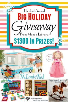Big Holiday Giveaway! Over $1300 in prizes.