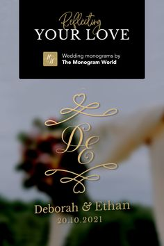Wedding Logos, Monogram Wedding, Flute, Big Day, Perfect Wedding, Reflection, Initials, Photoshop, Letters