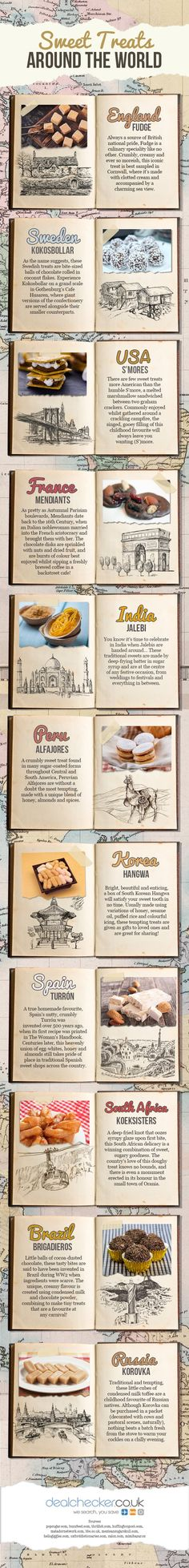 Sweet Treats Around the World #infographic #Travel #Food