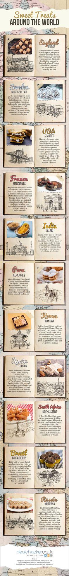 Sweet Treats Around the World #infographic #Travel #Food