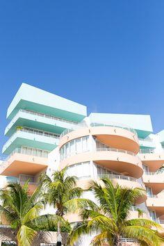 Brilliant pastel architecture in Miami.