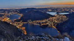 Lecco by night - italian lakes