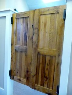Reclaimed Antique Old Barn Wood Swinging Saloon Doors - September 28 2019 at Wood Barn Door, Old Barn Wood, Wood Doors, Rustic Barn, Rustic Wood, Laundry Room Doors, Bathroom Doors, Camper Bathroom, Washroom