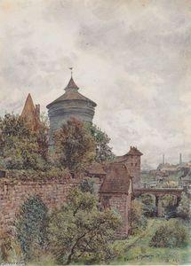 Rudolf Von Alt - Die Spittler in Nürnberg