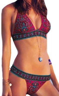 6487e3b7e8 Lady Sexy Leopard Swimwear Bikini Set Bandage Push-Up Padded Swimsuit  Beachwear. Ladies High Waist Triangle Push Up Bra Bikini Set Lace Up Swimsuit  Bathing ...