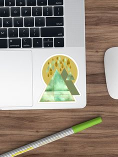 """""""Watercolour inspired Abstract triangles """" Sticker by Mandsred1 