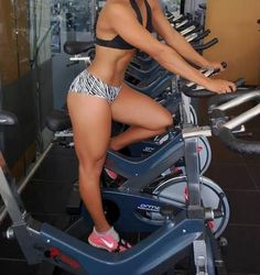 Stationary Bikes | L Stationary Bikes | Love her body! Thick, curvy, and fit!