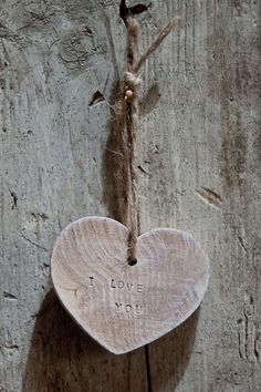 wooden heart for Valentine's Day :)