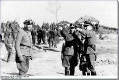 Himmler inspects Waffen SS Totenkopf, Russia, June 1943