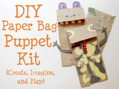 Childhood Beckons presents a great Paper Bag Puppet Kit! Oh these are great on those rainy days!