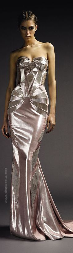 Versace Atelier Art deco dress