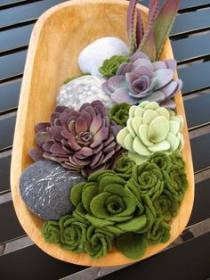 I know these are felted, but I like the look for the garden