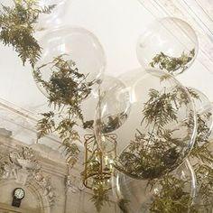Gold fern balloons with @earlyhoursltd simple elegance #weddinginspo…