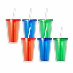 Design for Living Set of 6 Double Walled Iced Beverage Cups with Straws by Design for Living. $29.98. This Design for Living Set of 6 Double Walled Iced Beverage Cups with Straws features double-walled construction that reduces condensation while keeping drinks cooler longer. Each cup has a secure screw-on top and drinking straw to help prevent messes when you're on the go. Cups are reusable, food safe, and BPA-free. Made of Tritan plastic. Each cup holds 16 o...