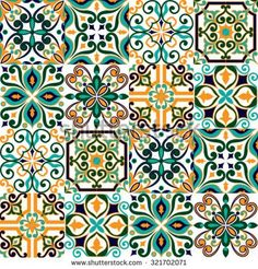 Find Seamless Pattern On Tiles Majolica Arabic stock images in HD and millions of other royalty-free stock photos, illustrations and vectors in the Shutterstock collection. Tile Patterns, Textures Patterns, Print Patterns, Dot Painting, Ceramic Painting, Tile Art, Tiles, Mediterranean Tile, Decoupage Vintage