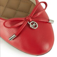 Michael Kors Melody ballet flats Simple yet chic the Michael Kors Red Leather Melody Ballet Flat is a classic style that will see you through Season after Season. Crafted from premium soft leather these New Season ballet flats are a must. Elasticated ankle insures a comfy style and perfect fit. Classic ballet flat style featuring round toe and bow detail. MICHAEL Michael Kors Shoes