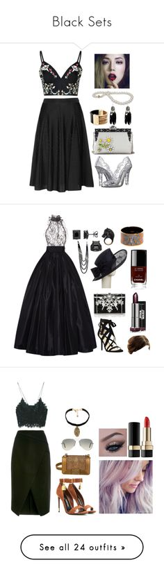 """""""Black Sets"""" by hien-anhhs on Polyvore featuring Glamorous, Dolce&Gabbana, Givenchy, Michael Kors, women's clothing, women, female, woman, misses and juniors"""