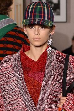 Statement earrings ruled the runways in New York and London.