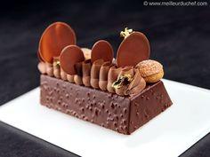 Bûche Saint Honoré brownie