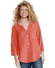 Farb-und Stilberatung mit www.farben-reich.com - Deerberg Leinenbluse Denise, papaya