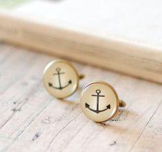 Men formal beach attire cufflinks