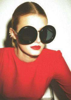 ear cuffs and circle sunglasses