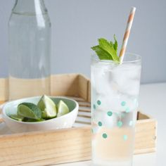 A few painted polka dots add a summery vibe to some plain highball glasses.
