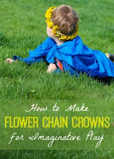 How to make flower chain crowns for imaginative play! - Fireflies and Mud Pies