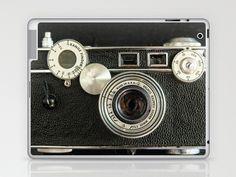 I want one!  Vintage Range finder camera. Laptop & iPad Skin by Wood-n-Images - $25.00