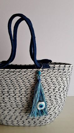 White and Black Basket Bag Monochrome Basketbag Summer