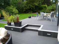 Deck and Patio Combo . Deck and Patio Combo . Deck and Patio Bo Small Backyard Decks, Modern Backyard, Backyard Patio, Small Patio, Modern Deck, Patio Deck Designs, Patio Design, Patio Ideas, Outdoor Ideas