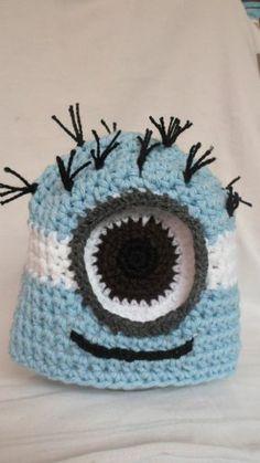 Gorro Crochet Minion De Argentina. Mi Villano Favorito. - $ 100,00