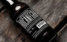 boca negra - The Boca Negra beer branding by Mexico-based graphic designer Manifiesto Futura takes the well-known idea of making alcohol more masculine and exec. Bottle Packaging, Brand Packaging, Beverage Packaging, Craft Beer Brands, Label Design, Package Design, Graphic Design, Type Design, Brand Design