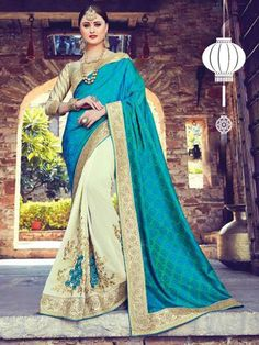 New indian bollywood designer saree unstitched blouse partywear embroidery work   eBay