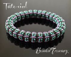 This listing is for a digital Photo Tutorial. By purchasing this tutorial you will learn how to create yourself this beaded bangle in beautiful