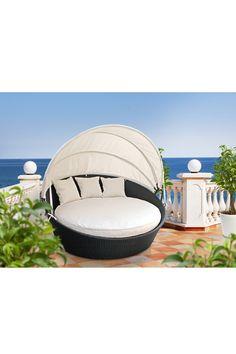California Modern Classics  Siesta Outdoor Rattan Canopy Bed - Espresso/White  $999.00 $1,500.00  33% off