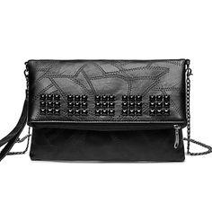Ladies' Rivet PU Clutch Bag Evening O1326