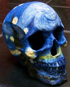Starry Night Skull by Lucky  CricketART on Etsy.