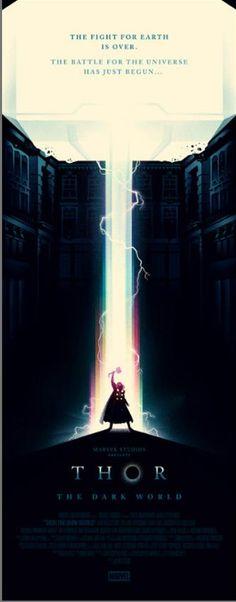 """Posters exclusivos de Olly Moss para """"Thor: The Dark World"""""""