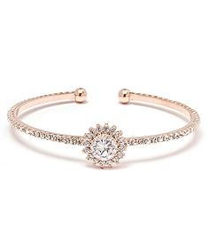 Another great find on #zulily! Gold & Swarovski® Crystal Flower Bracelet by Sevil Designs #zulilyfinds