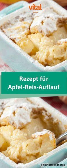 Diesen Auflauf könnt ihr ganz ohne schlechtes Gewissen als süßen Hauptgang oder Dessert genießen. Besonders beliebt ist unser Rezept für den Apfel-Reis-Auflauf übrigens bei Kindern.