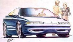 1990s oldsmobile sedan concept,(c) gm co inc.