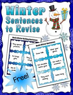Sensational tips and materials for teaching kids to write super sentences ~ My kids loved these activities! (Offered for free by Laura Candler.) Speech Activities, Language Activities, Writing Activities, Winter Activities, Teaching Kids To Write, Teaching Writing, Kids Writing, Writing Ideas, Speech Language Therapy