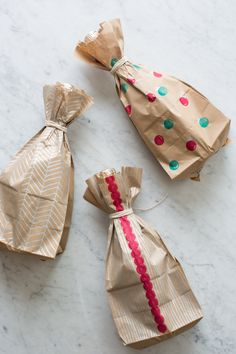DIY Wine Wrapping Paper | Spoon Fork Bacon