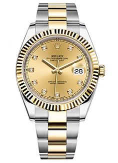 Rolex Datejust 41 Stainless Steel & 18K Yellow Gold Oyster Champagne Diamond Dial 126333 https://www.carrywatches.com/product/rolex-datejust-41-stainless-steel-18k-yellow-gold-oyster-champagne-diamond-dial-126333/ Rolex Datejust 41 Stainless Steel & 18K Yellow Gold Oyster Champagne Diamond Dial 126333  #diamondwatchesformen #mensdiamondwatches #perpetualcalendar #rolexwatchesformen