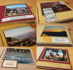 Grand Canyon Mini Album by Karen Wyngaard (inside pages) | Club Scrap